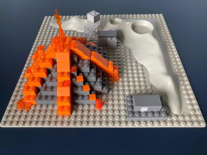 Volcano made of Lego