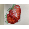 Lucy's lifelike strawberry painting!