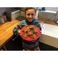 Matthew has made yummy flapjacks!
