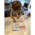 Owen has enjoyed completing crosswords