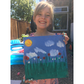 and she painted a beautiful picture for them too!