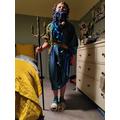 Hector's amazing Poseidon costume!