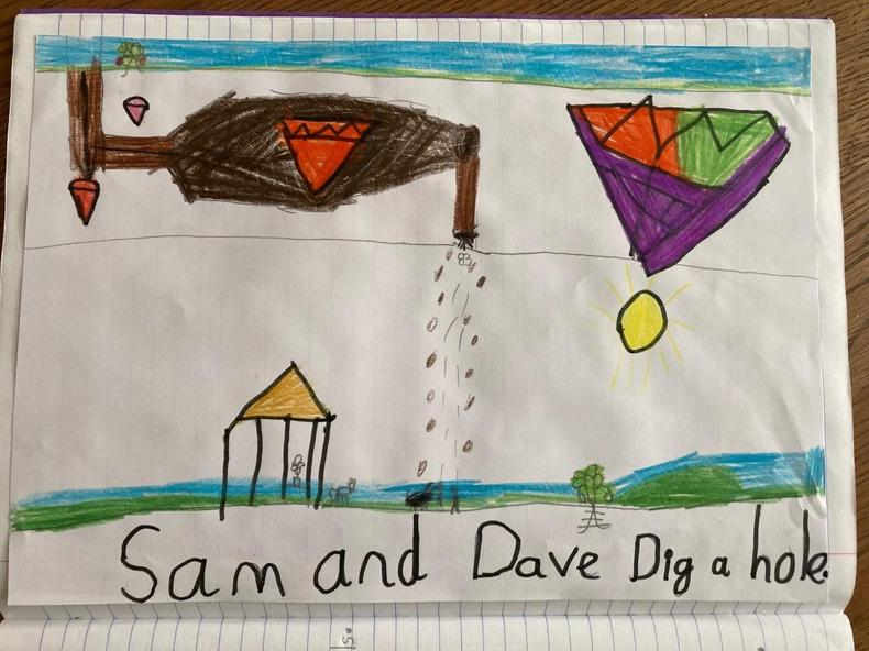 Sam and Dave dig a hole map