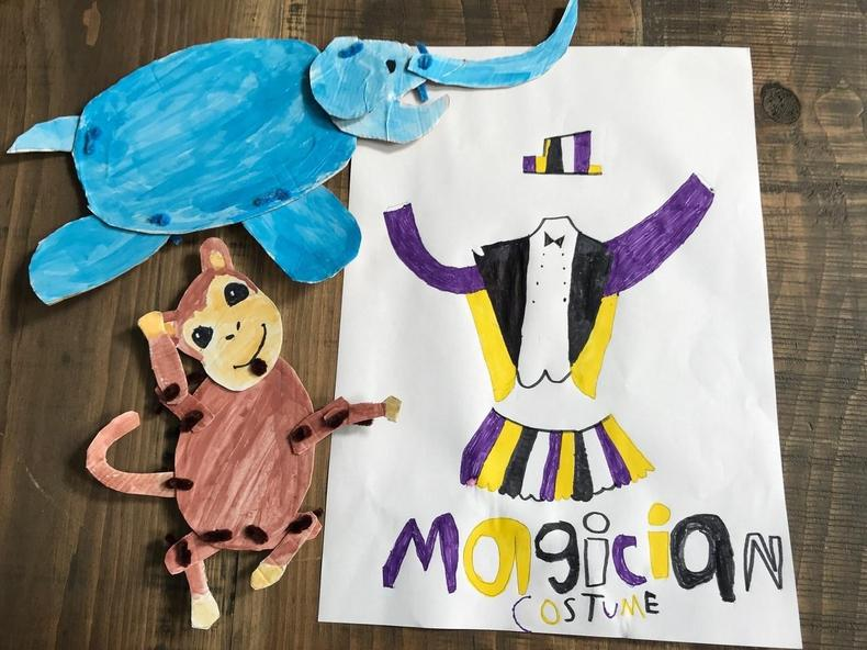 Moveable animals and a magic outfit