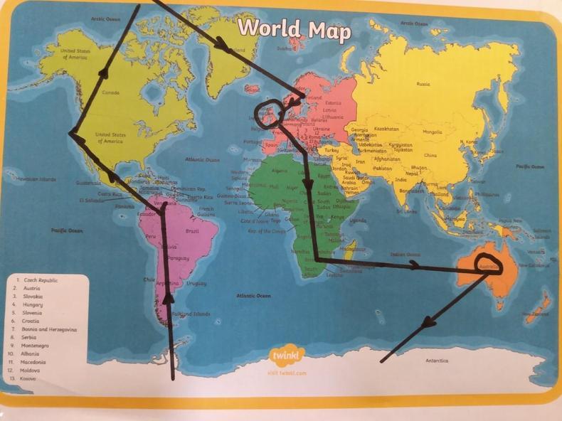 Jessica's journey around the world