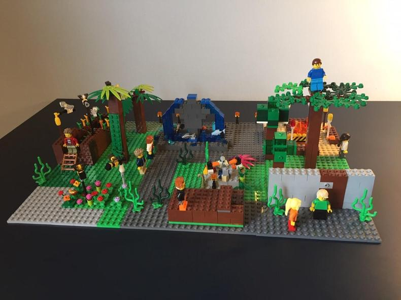 Secret garden in Lego