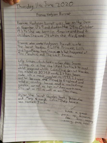 All about Frances Hodgson Burnett