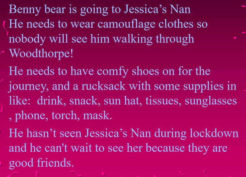 Benny Bear's adventure