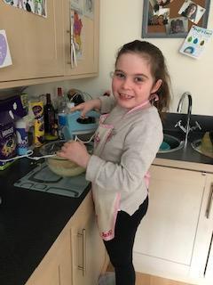 Cake baking