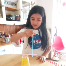 Moving straws science experiment