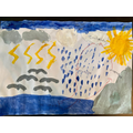 Water cycle painting by Jessica
