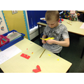 Creating our dragon bookmarks