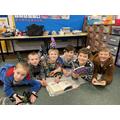 All the boys enjoying reading their books