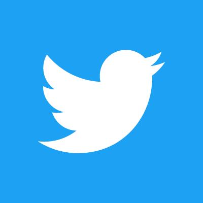 Twitter Logo - White on blue