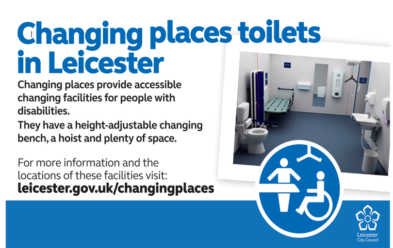 Changing Places in Leicester - Accessible changing facilities for people with disabilities