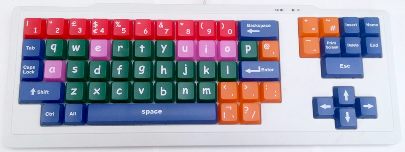 Bright Keyboard with Large Keys