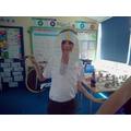 We made Egyptian headdresses called nemes!
