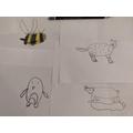 Emily's been practising her sketching...