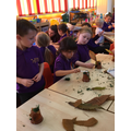 We used different woodland items to decorate them.