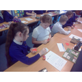 Playing snap with component flash cards