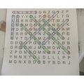 Harvey's completed a spring wordsearch