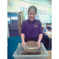 We used sieves to go panning for gold!