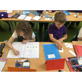Place value work in maths.