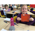 We have been learning how to cross stitch