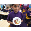 We planned an Ancient Greek meal, and tasted foods such as figs and olives.