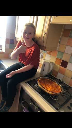 Lily made a delicious cottage pie.