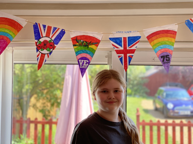 Sophie's beautiful bunting....