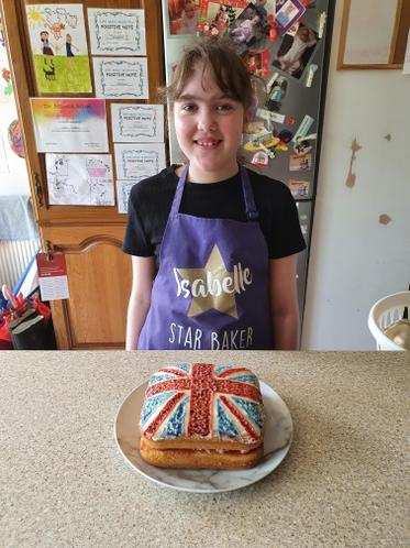 A fabulous Union Jack cake by Isabelle!