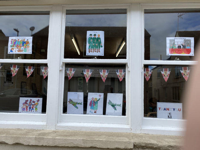 A lovely window display by Sophie and her family.