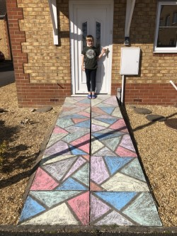 Great chalking by Tom