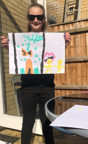 A lovely painting by Lily.
