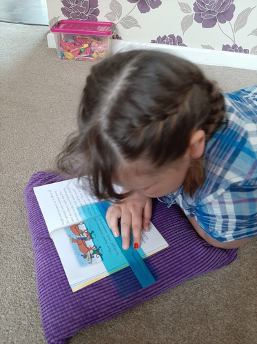 Layla has enjoyed relaxing with her reading book.