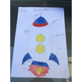 Remey planned her model rocket carefully