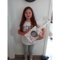 Lexie's guitar for our Science unit on sound
