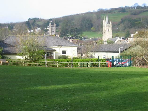 Looking across our school field to the Town