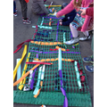 Rainbow weaving.