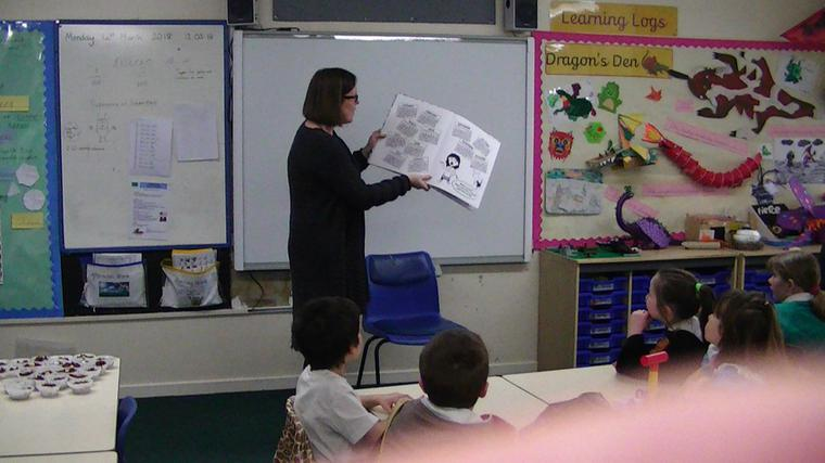 Mrs Wheeler read to Year 2