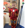 Iron Man was out saving the day!