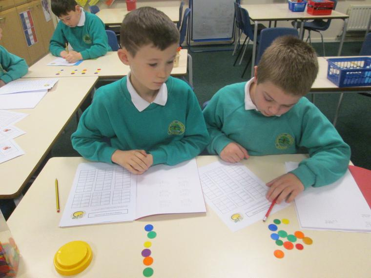 Using counters to help with fractions