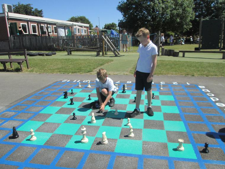 Our giant chess board