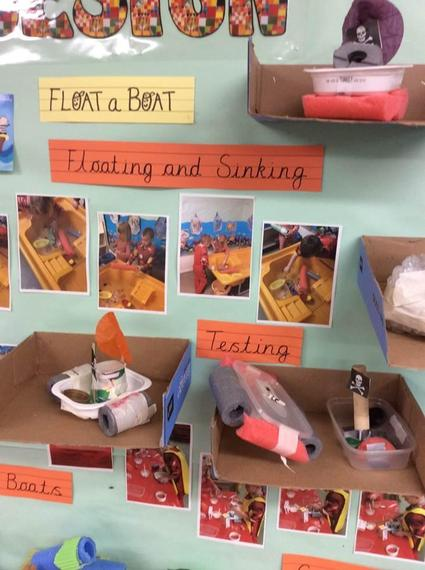 We used foam to help our boats float.