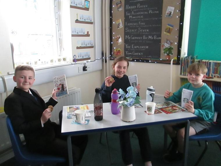 The first three guests- well done on super reading you three!