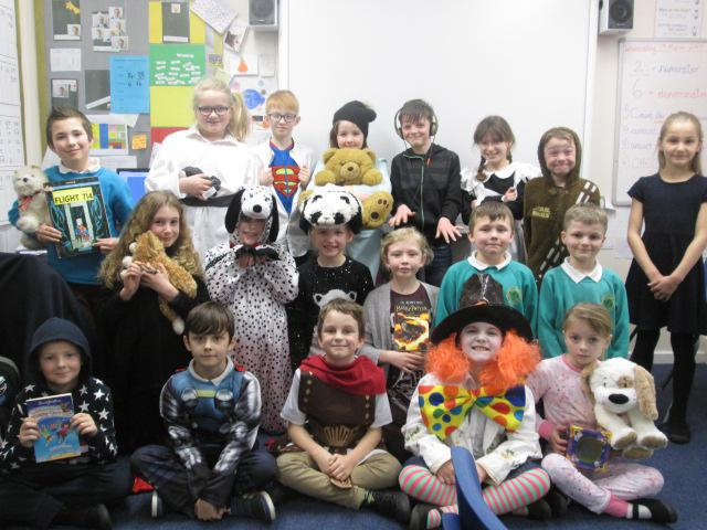Dressing up for World Book Day.