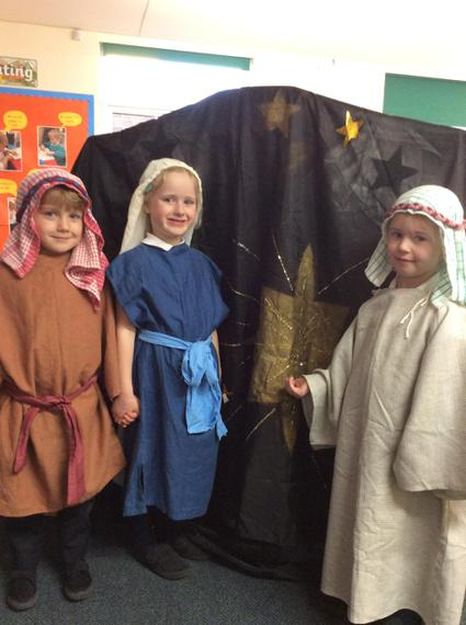 Mary, Joseph and inn keeper