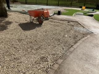A layer of gravel was added.