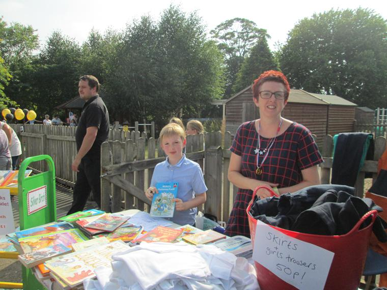 Uniform and book stall